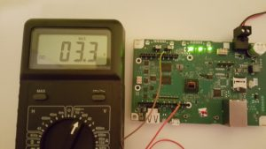 The default I/O voltage is 3.3v
