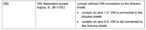 VIN jumper description from the IOT2020 manual.