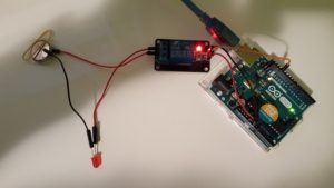 Using an Arduino Uno with a Relay Module for easy prototyping.